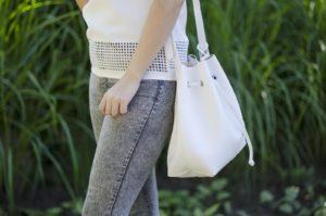biały worek torba
